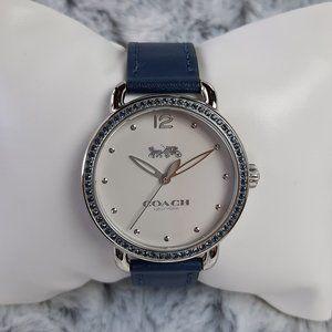 Coach Delancey White Dial Ladies Watch - Turquoise